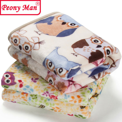 sampurchase High Quality! Flannel Baby Blanket Newborn Faux Fur Super Soft Cartoon Blankets 80x100cm For Beds Thick Warm Kids Fleece Throw