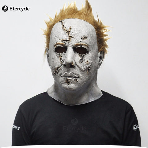 SAMPURCHASE Michael Myers Mask Horror Movie Halloween Cosplay Latex