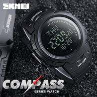 sampurchase SKMEI Outdoor Sports Compass Watches Hiking Men Watch Digital LED Electronic Watch Man Sports Watches Chronograph Men Clock