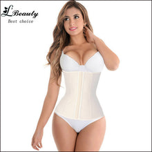 sampurchase 9 Steel Boned Corset 100% Latex Waist Trainer For Women Latex Waist Cincher Hot Body Shaper Women Shapewear