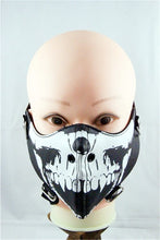 sampurchase Fashion Motorcycle Punk Rock Face Mask Hip-hop Halloween Party Leather Mask