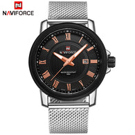 sampurchase Top Luxury Brand NAVIFORCE Men Fashion Casual Business Watches Men's Quartz Clock Male stainless steel Mesh Strap