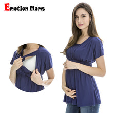 SAMPURCHASE Emotion Moms Summer Maternity clothes Nursing top nursing Breastfeeding Tops pregnancy clothes for pregnant women Maternity Tops