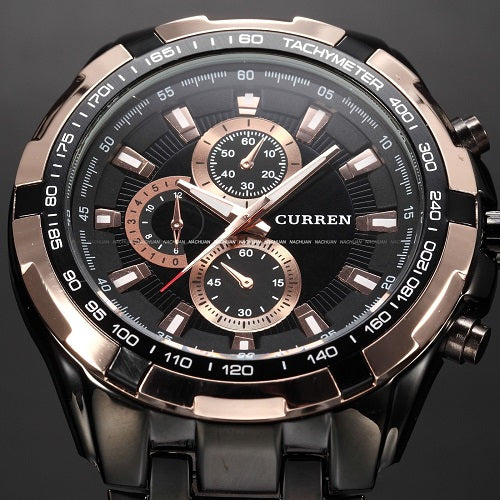 SAMPURCHASE 2016 CURREN Tag Brand Fashion Men Sport Analog Watches Men's Quartz Clock Male Casual Full Stainless Steel Military Wrist Watch