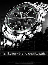 sampurchase Mens luxury gold wristwatches male brand watches quartz man clock waterproof stainless steel fashion Business calendar ONTHEEDGE