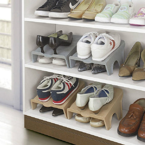 sampurchase Thick Double Shoe Racks Modern  Cleaning Storage Shoes Rack Living Room Convenient Shoebox Shoes Organizer Stand Shelf