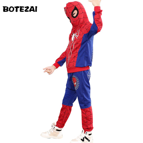 SAMPURCHASE Spider Man Cosplay Costumes Kids Clothes Set