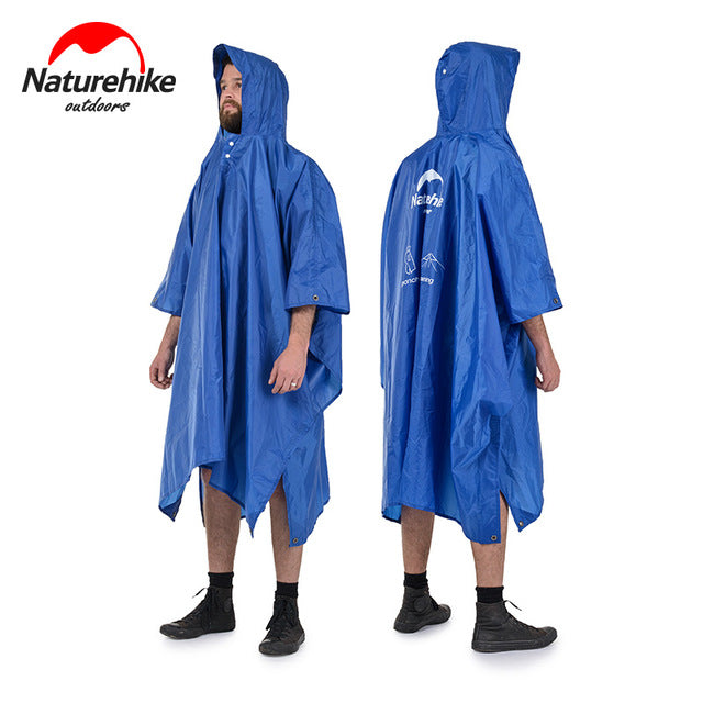 sampurchase Naturehike  3 in 1 Multifunction Poncho  Raincoat For Hiking Fishing Mountaineering NH17D002-M