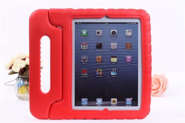 sampurchase For Apple iPad 2 3 4 EVA Foam Shockproof Case for iPad2 ipad3 ipad4 Funda Coque Children Kids Handle Stand Protective Cover