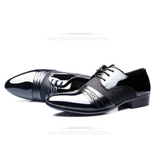 sampurchase ZXQ Men Dress Shoes Plus Size 38-47 Men Business Flat Shoes Black Brown Breathable Low Top Men Formal Office Shoes