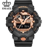 sampurchase Top Luxury Brand SMAEL Men Sport Watches Men's Quartz LED Analog Clock Man Military Waterproof Wrist Watch