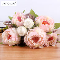 sampurchase JAROWN 7 Heads/Bunch New.Silk / Simulation / Artificial flower Peony flower bouquet for wedding table accessory home decoration