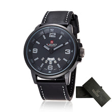 sampurchase 2017 NAVIFORCE Mens Watches Top Brand Luxury Men's Quartz Watch Waterproof Sport Military Watches Men Leather relogio masculino