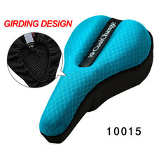 sampurchase CoolChange Cycling in the Back Seat Cushion Cover Thick Sponge Mountain Bike Road Bike Saddle Seat Bicycle Equipment Accessories