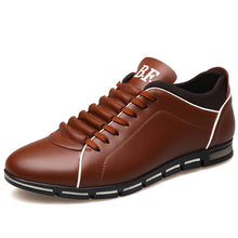 SAMPURCHASE Plus size 37-48 Brand Men Shoes England Trend Casual Leisure Shoes Leather Shoes Breathable For Male Footear Loafers Men's Flats
