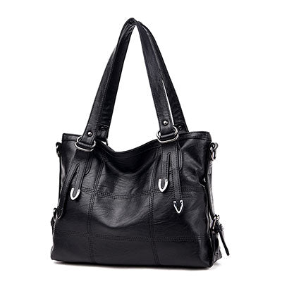 sampurchase Luxury Handbags Women Bags Designer Plaid Women's Leather Handbags Big Casual Tote Bag Ladies Shoulder Bag Woman Double Arrows