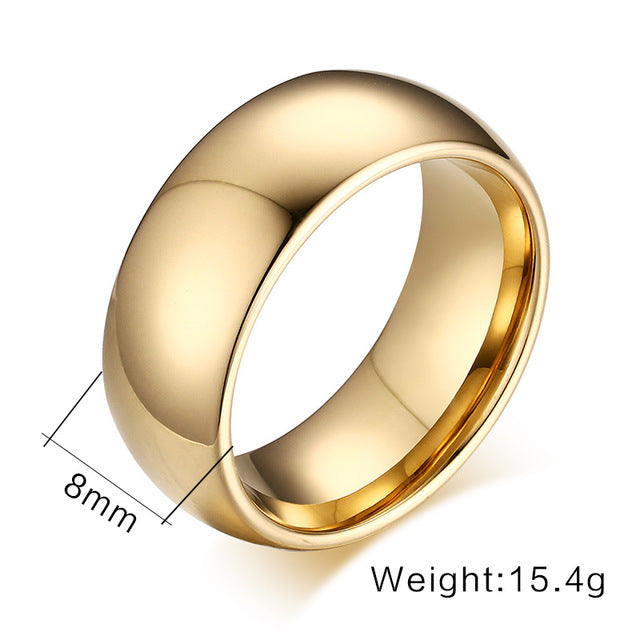 sampurchase Vnox 100% Tungsten Ring for Men 8mm Wedding Classic Jewelry Smooth Hand Polishing US 6 7 8 9 10 11 12 13