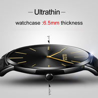 sampurchase Ultra thin Wristwatch OLEVS Brand Luxury Leather Watch Men Business Casual Quartz Minimalist Watches Waterproof