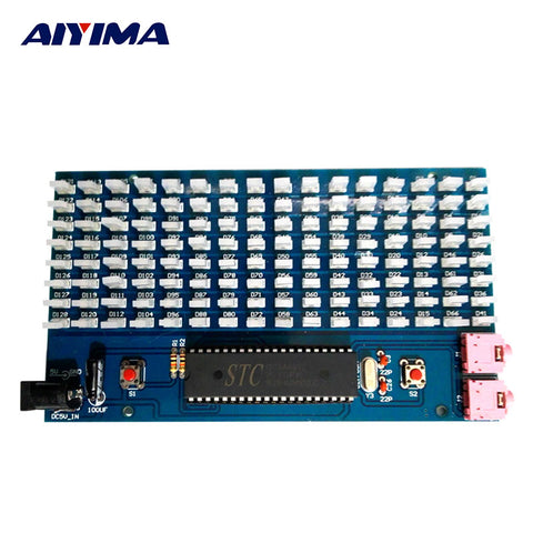sampurchase AIYIMA 51SCM Microcontroller Board Music Spectrum Display 8x16MM LED Audio Level Indicator / DIY Kits