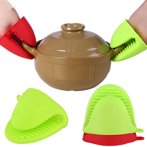 SAMPURCHASE 1Pc Silicone Heat Resistant Gloves Non Stick Anti-slip Pot Bowel Holder
