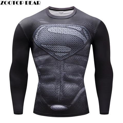 SAMPURCHASE Superhero Compression T-shirts Bodybuilding Fitness Tops