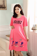 sampurchase Maternity Clothing New Character Short Knee-length Cotton Casual Clothes for Pregnant Women Breastfeeding Dress Nursing Clothes