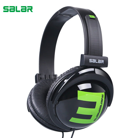 sampurchase Salar Big E 3.5mm Wired Gaming Headphones Adjustable Foldable Headset Over Ear Stereo Deep Bass for Phone Tablets Computer