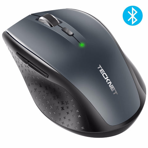 sampurchase TeckNet Bluetooth Wireless Mouse 2.4g 2600/2000/1600/1200/800 DPI For Laptop Notebook PC Computer