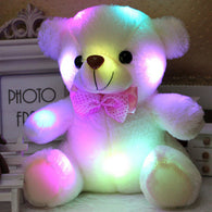 sampurchase Dropshipping 20CM Colorful Glowing  Luminous Plush Baby Toys Lighting Stuffed Bear Teddy Bear Lovely Gifts for Kids