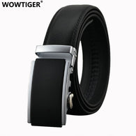 sampurchase WOWTIGER Belt New Male Designer Automatic Buckle Cowhide Leather men belt 110cm-130cm Luxury belts for men Ceinture Homme