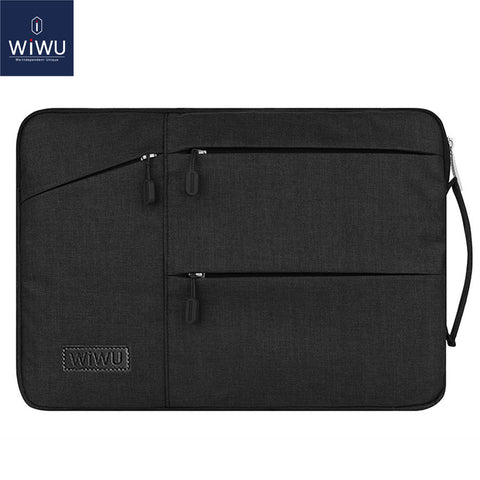 sampurchase WIWU Waterproof Laptop Bag Case for MacBook Pro 13 15 Air Bag for Xiaomi Notebook Air 13 Shockproof Nylon Laptop Sleeve 14 15.6
