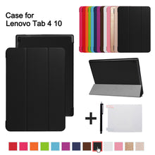 "sampurchase Magnetic Case For Lenovo TAB 4 10 Protective Smart cover for lenovo tab410 Tab4 10 TB-X304N F Cases 10.1"" (2017 release)+gift"