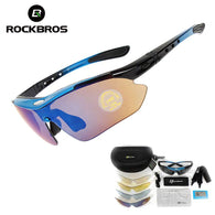 sampurchase Hot! RockBros Polarized Cycling Sun Glasses Outdoor Sports Bicycle Glasses Bike Sunglasses  29g Goggles Eyewear 5 Lens