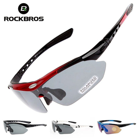 SAMPURCHASE Polarized Cycling Glasses 5 Lens Bike UV400 Proof Outdoor