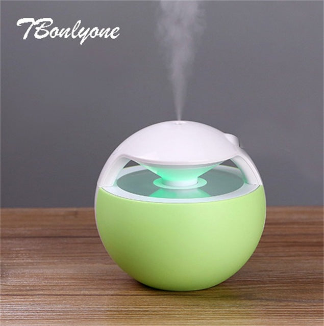 sampurchase TBonlyone 450ML Ball Humidifier with Aroma Lamp Essential Oil Ultrasonic Electric Aroma Diffuser Mini USB Air Humidifier Fogger