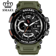 sampurchase SMAEL Men Top Brand Electronic LED Digital Wrist Watches For Male Sport Watch Men Military Clock