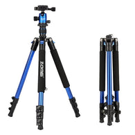sampurchase Zomei Q555 professional aluminum flexible camera tripod stand with  ball head for DSLR  cameras portable