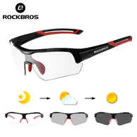 sampurchase ROCKBROS Photochromic Cycling Bicycle Bike Glasses Outdoor Sports MTB Bicycle Bike Sunglasses Goggles Bike Eyewear Myopia Frame