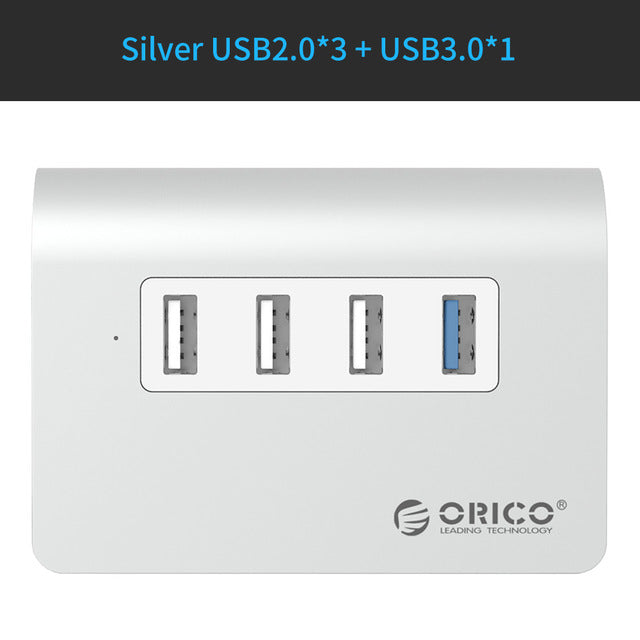 sampurchase ORICO M3H4 New Mac Design Mini High Quality High Speed  Aluminum 4 Port USB 3.0 HUB With Date Cable