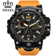 sampurchase SMAEL Sport Watch for Men Waterproof Quartz Analog LED Electronic Men's Wristwatch Clock Man