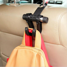 sampurchase New Double Auto Car Back Seat Headrest Hanger Holder Hooks Clips For Bag Purse Cloth Grocery Automobile Interior Accessories