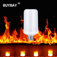 sampurchase BUYBAY E27 E26 2835 LED Flame Effect Fire Light Bulbs 7W Creative Lights Flickering Emulation Vintage Atmosphere Decorative Lamp