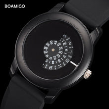 sampurchase men watches Extremely simple quartz watch BOAMIGO fashion casual rubber wristwatches 2017 creative gift clcok relogio masculino