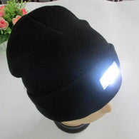 sampurchase LED Knit Hat Beanies Flashlight Headlamp Outdoor Sport Caps Climbing Fishing Cycling Running Camping Winter Windproof Equipment