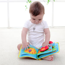 sampurchase Baby Toys 0-12 Months Intelligence Development Cloth Book Stroller Rattle Toys Unfolding Activity Books Cute Kids Toys 6 pages