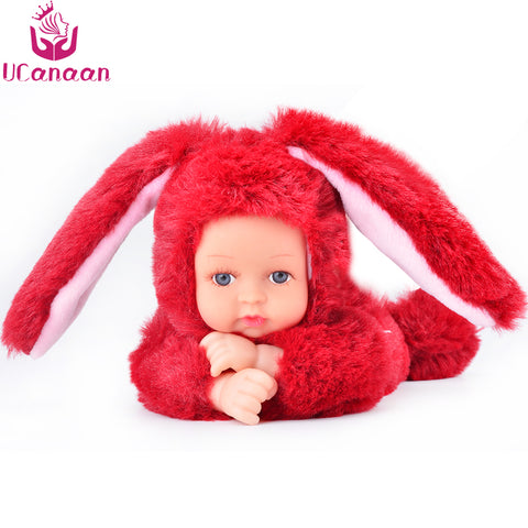 sampurchase UCanaan Soft Plush Stuffed Toys For Children Kawaii 6 Colors Rabbit Bear Kids Toys Speelgoed Reborn Dolls Brinquedos Girls Gifts