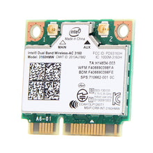 sampurchase Mini PCI-e Wifi Wireless bluetooth laptop card Dual Band 2.4ghz 5Ghz For Intel 3160 3160HMW 802.11ac Wireless AC + Bluetooth 4.0