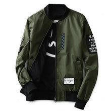 sampurchase  Suprem Bomber Jacket Men Pilot with Patches Green Both Side Wear Thin Pilot Bomber Jacket Men Wind Breaker Jacket Men,LQ803