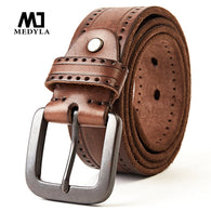 sampurchase Top Layer Leather Cowhide Belt Fashion Technology Men Belt Imported Alloy Buckle Strap Wide Cinto Masculino Luxury Cummerbund