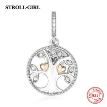 sampurchase New arrival Fit Authentic Pandora Bracelets family the tree of life Charms 925 Silver Beads Fashion Jewelry Making family Gifts